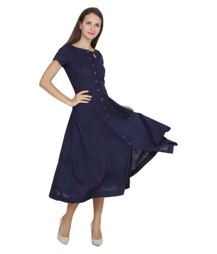 Vastrgrah Cotton A- line Dress