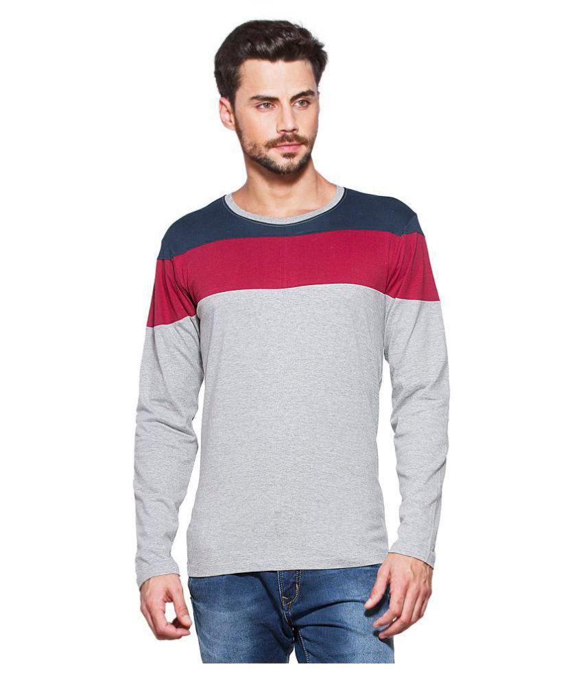Yo Republic Grey Round T-Shirt Pack of 1