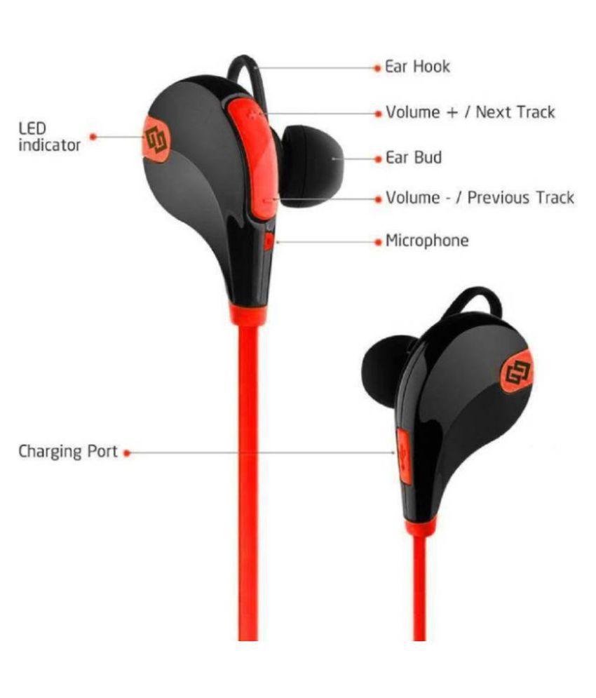 Battlestar Wireless Bluetooth Headphone Red