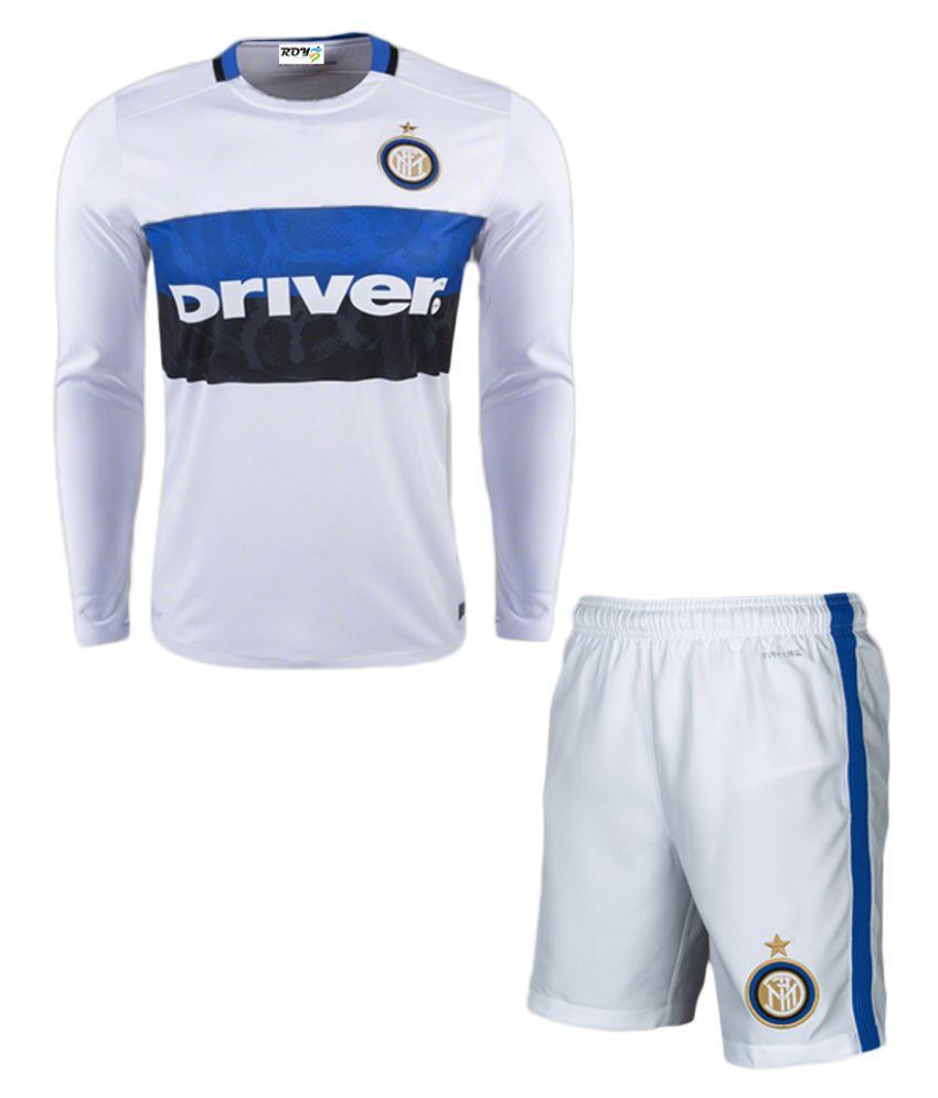 Inter Milan White Polyester Jersey