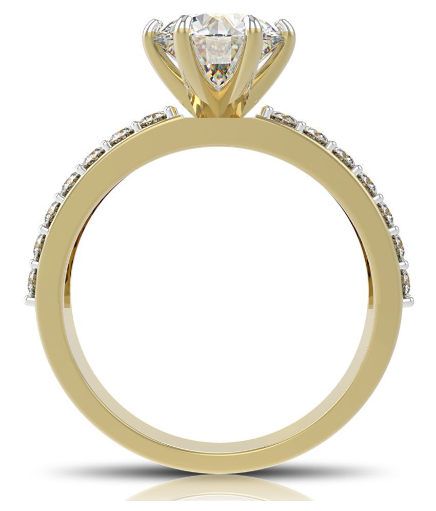 Diamos 14k Gold Moissanite Ring