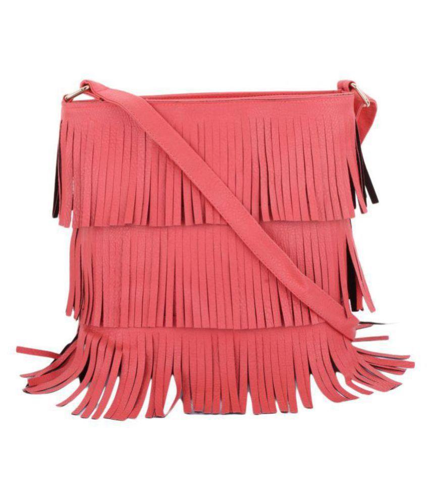 bae6a52edd AJ STYLE Pink P.U. Sling Bag - Buy AJ STYLE Pink P.U. Sling Bag Online at  Best Prices in India on Snapdeal