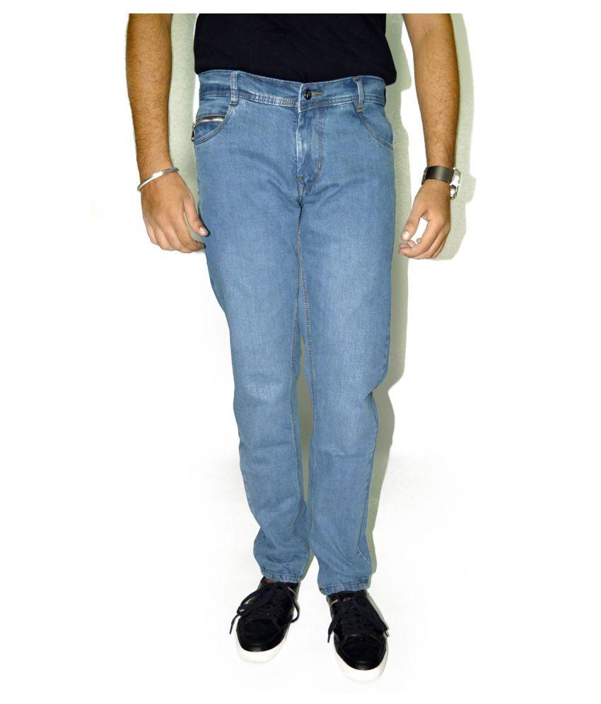 Masterly Weft Light Blue Straight Jeans