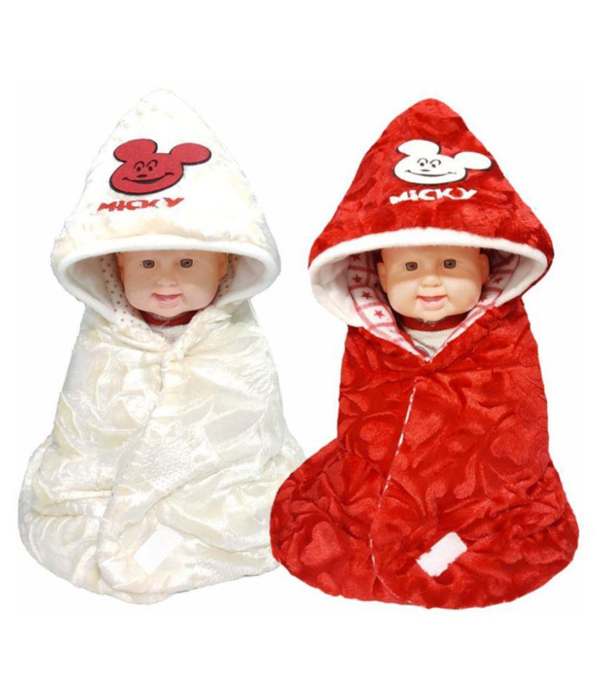 BRANDONN Multi-Colour Fleece Sleeping Bags ( 66 cm × 66 cm)