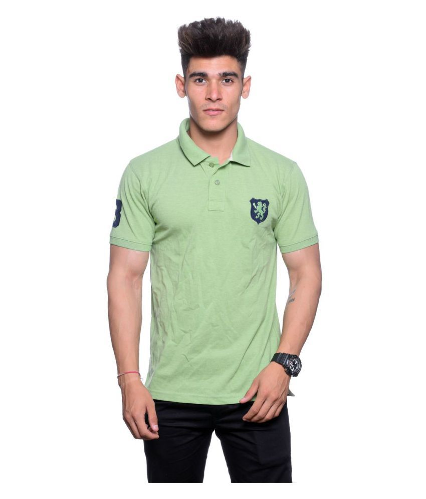 Illusion Green High Neck T-Shirt