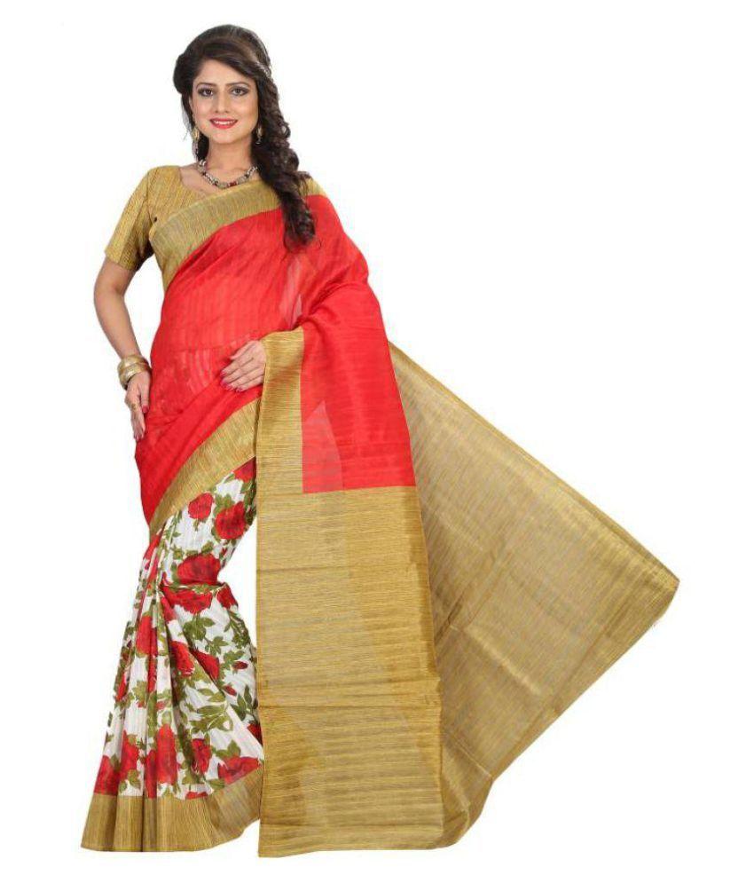 Fashion and Hub Multicoloured Bhagalpuri Silk Saree