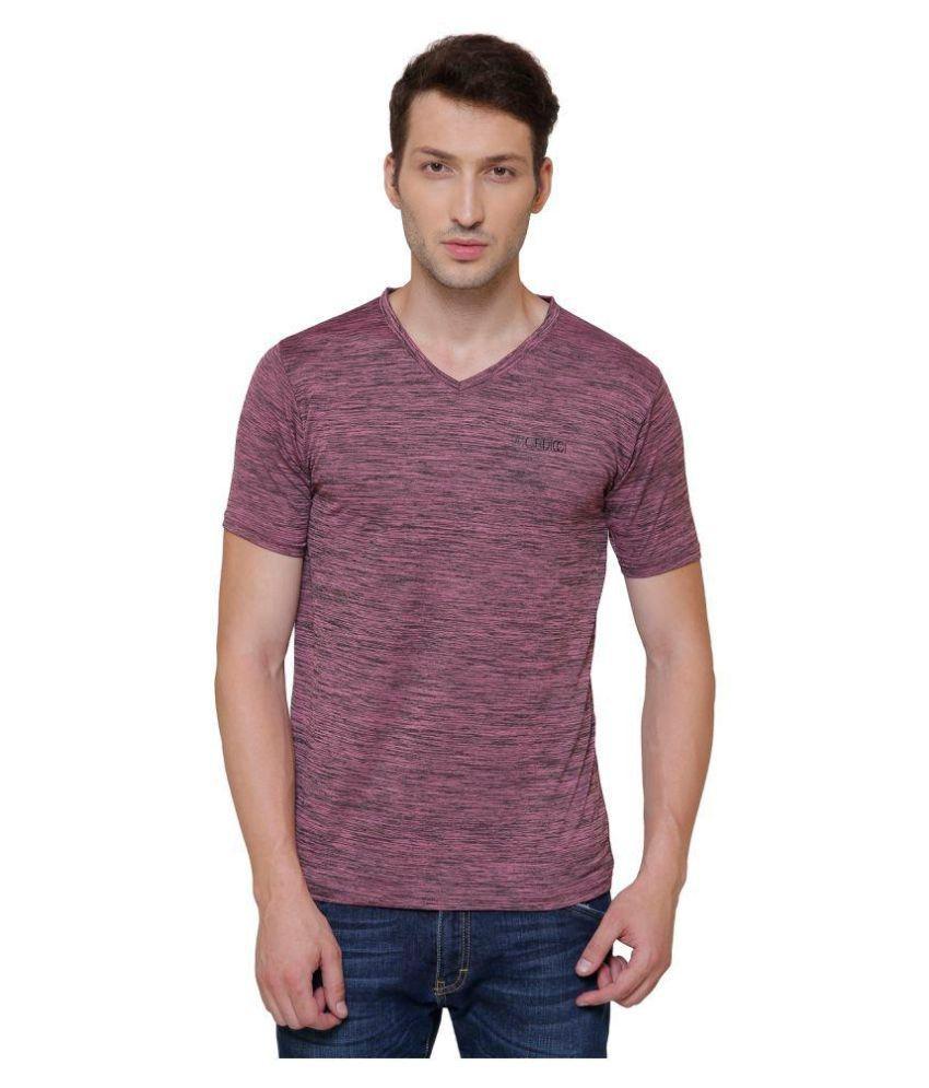 Pali Maroon V-Neck T-Shirt