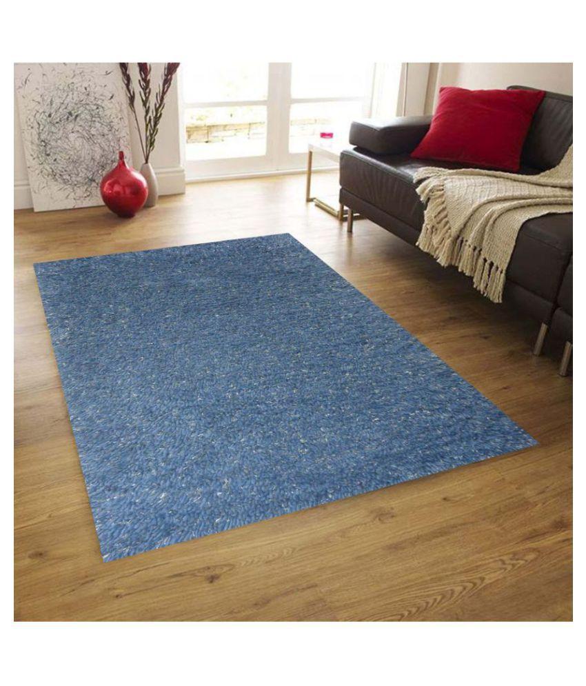 Jp2 Home Blue Rug Wool Plain