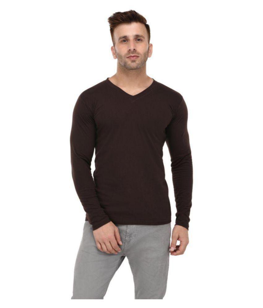 BKS COLLECTION Brown V-Neck T-Shirt