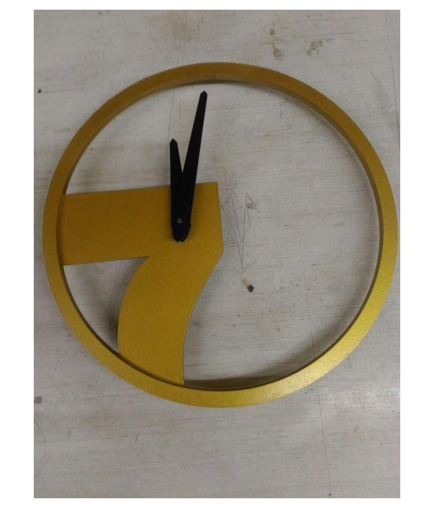 Earth Circular Analog Wall Clock wall clock 1200 - Pack of 1