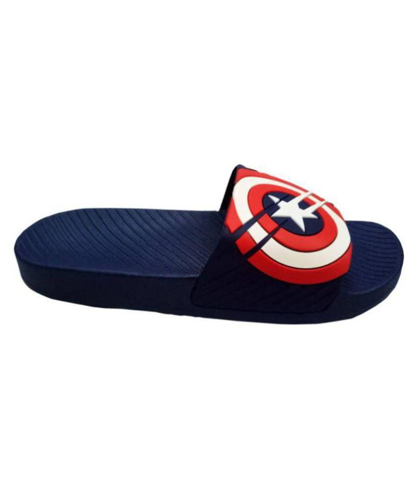 a54c92853b5b ... CHEETEE CAPTAIN AMERICA MARVEL SLIDES Multi Color Slide Flip flop ...
