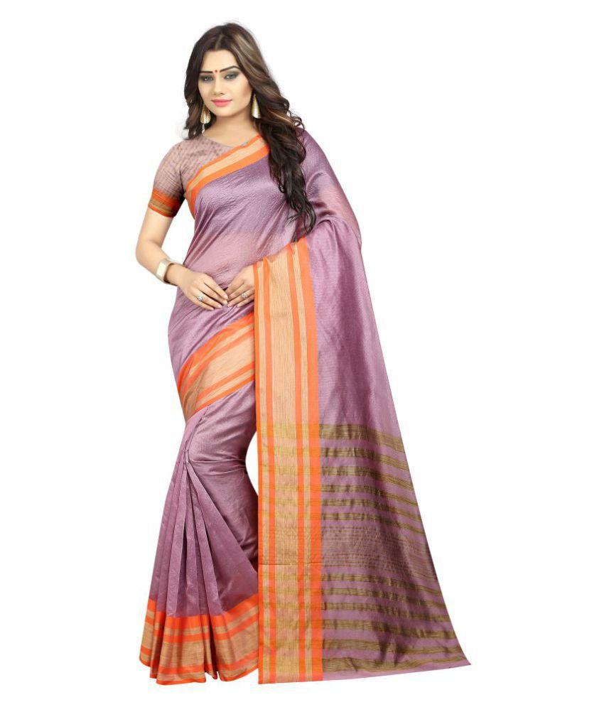 Mastani Purple Chanderi Saree