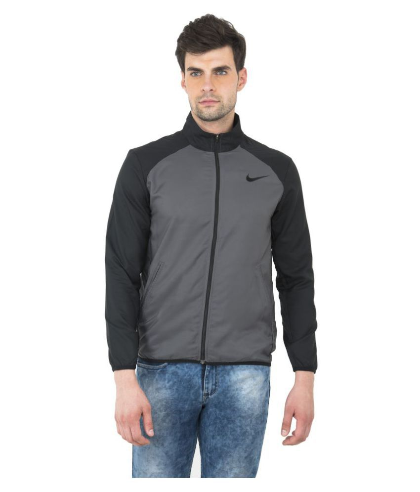 fde2e30338183 NIKE Grey Casual Jacket - Buy NIKE Grey Casual Jacket Online at Best ...