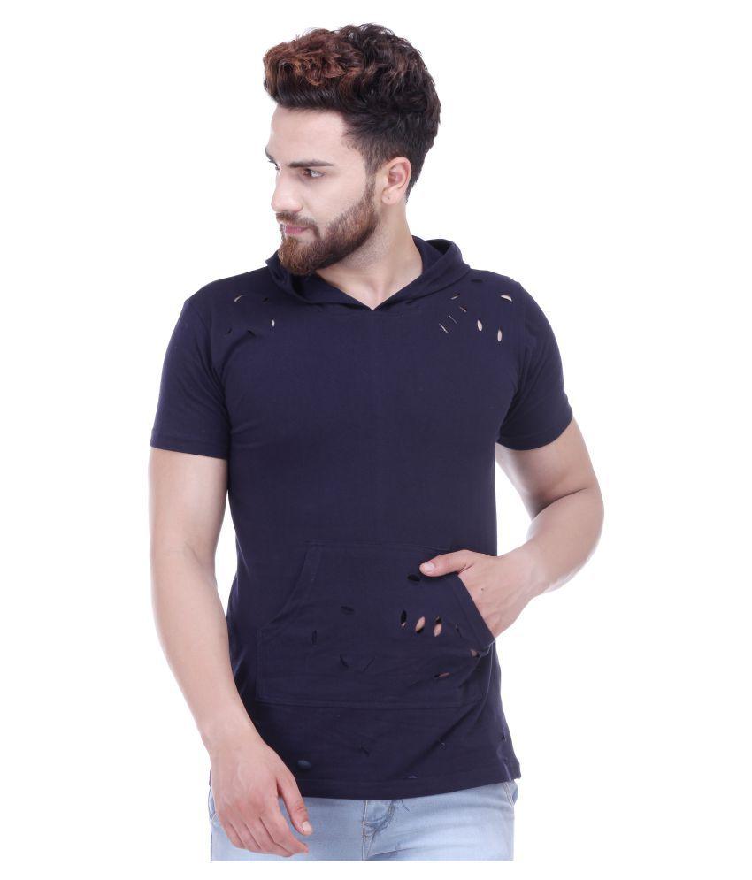 ACOMHARC INC Navy Hooded T-Shirt