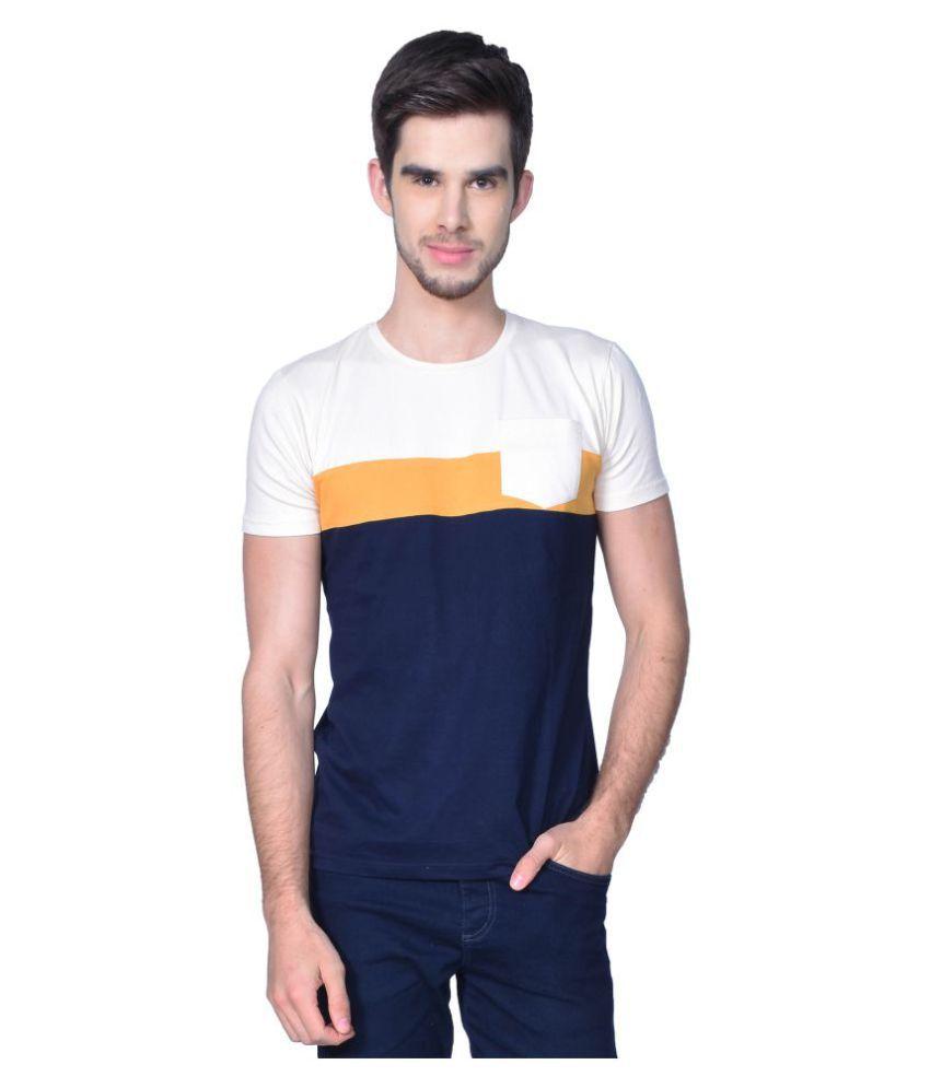 GliZt Blue Round T-Shirt