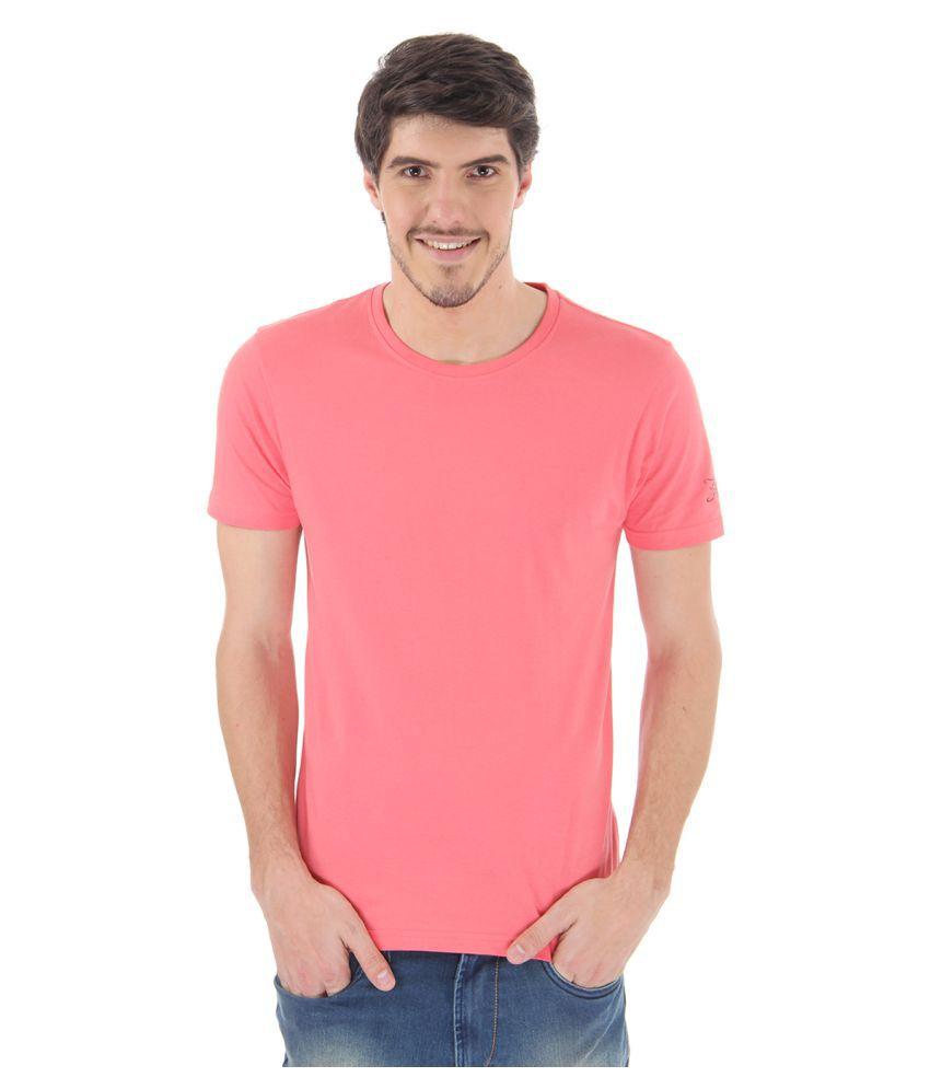 Flying Machine Orange Round T-Shirt
