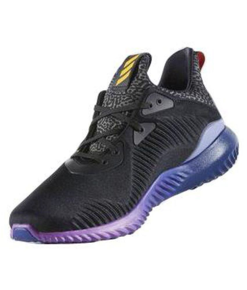 promo code d109d cdbc6 Adidas ALPHABOUNCE BLACK AND PURPLE Running Shoes Adidas ALPHABOUNCE BLACK  AND PURPLE Running Shoes ...