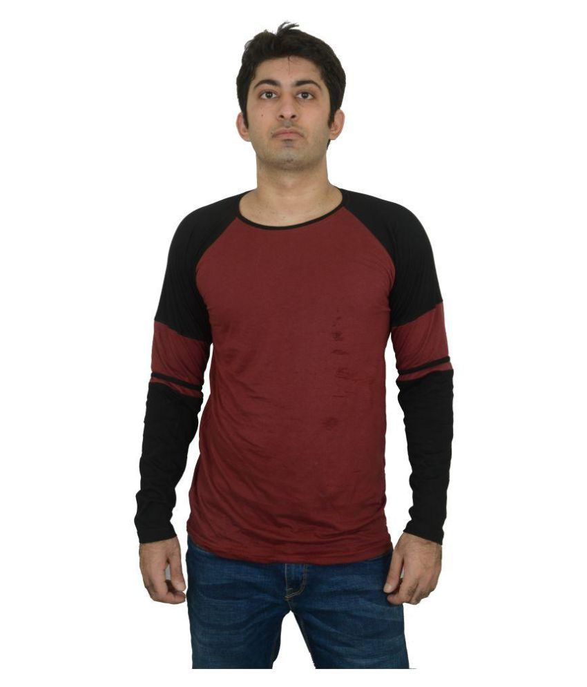 oovs Maroon Round T-Shirt