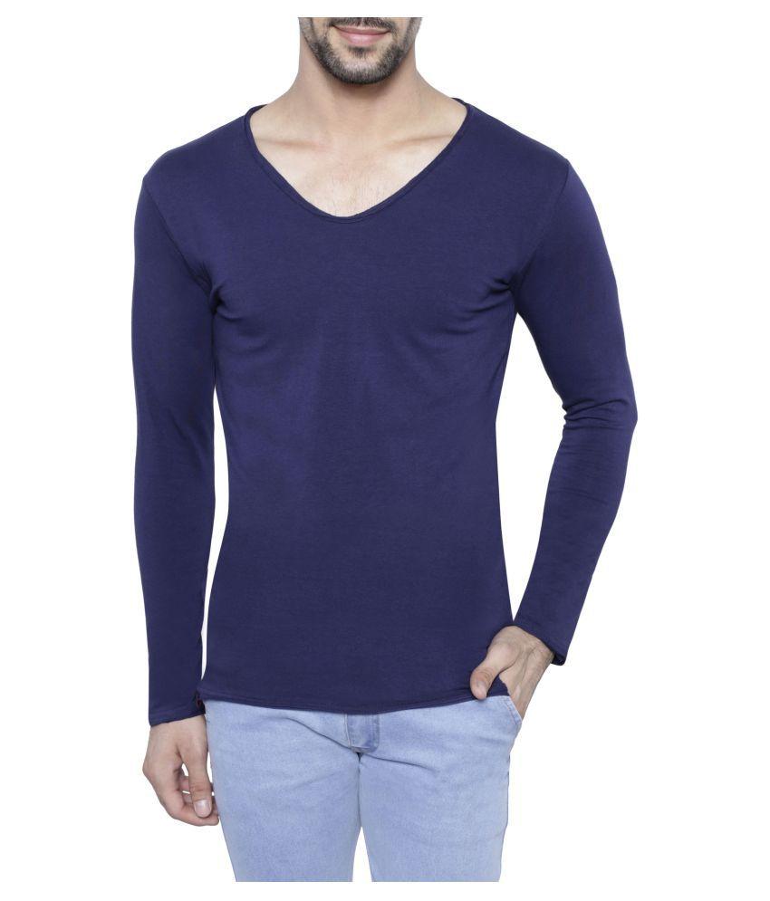 LA Farzi Navy V-Neck T-Shirt
