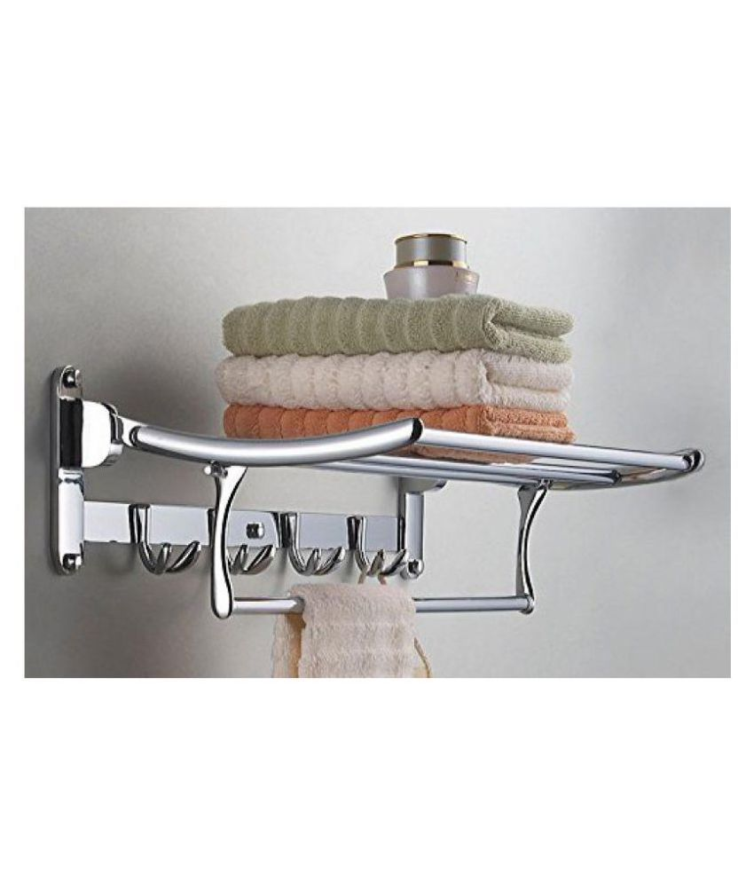 Buy handy 2ft bathroom accessories folding rack stainless for Rack for bathroom accessories