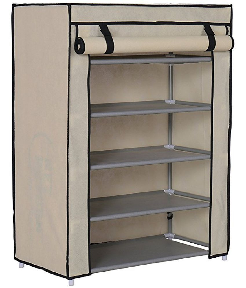 foldable shoe rack 5 layer portable fancy wardrobe closet organizer collapsible almirah shelf multipurpose 5 layer storage organizer shoe cabinet 1 rh snapdeal com