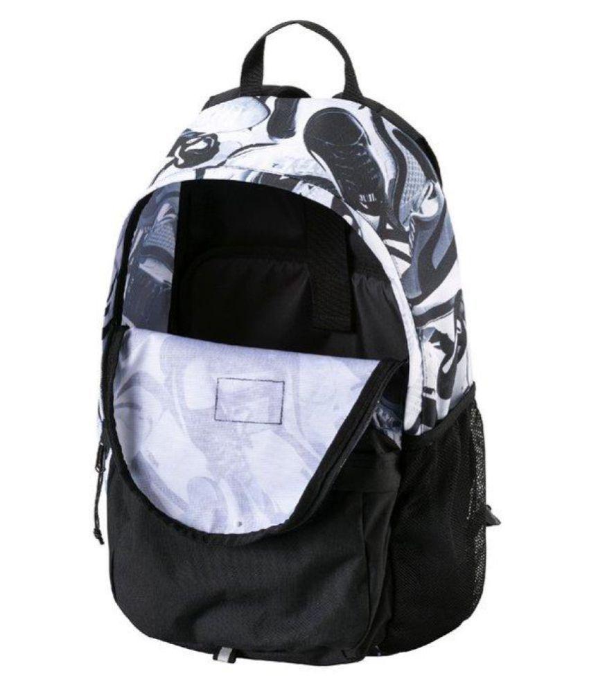 294891f942283b Puma Academy Black and White college Backpack - Buy Puma Academy ...