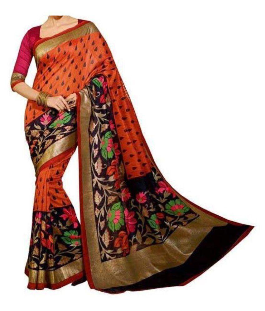 Harikrishna Enterprise Multicoloured Bhagalpuri Silk Saree