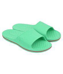 JPS Traders Slip On Slippers For Men/Boys Green Slide Flip flop