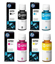 OVER TECH HP INK GT51& 52 Multicolor Combo Pack Ink Pack of 4