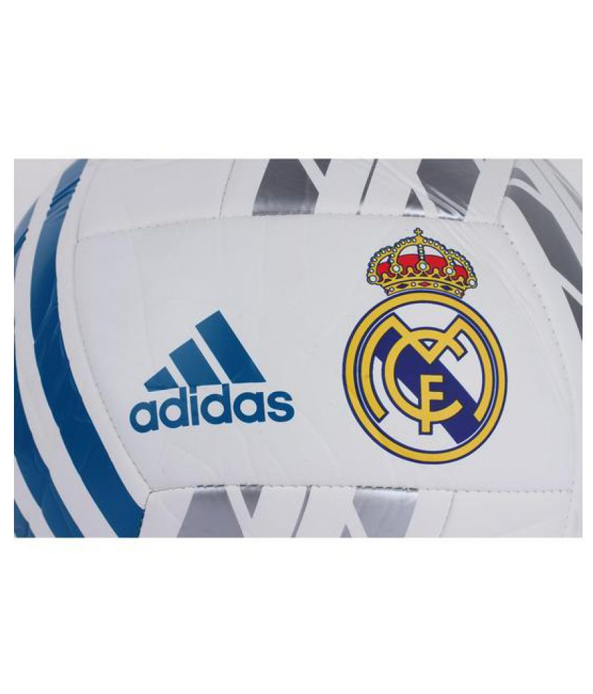 pretty nice f1772 475ef Adidas Real Madrid Fbl White Football / Ball Size- 5