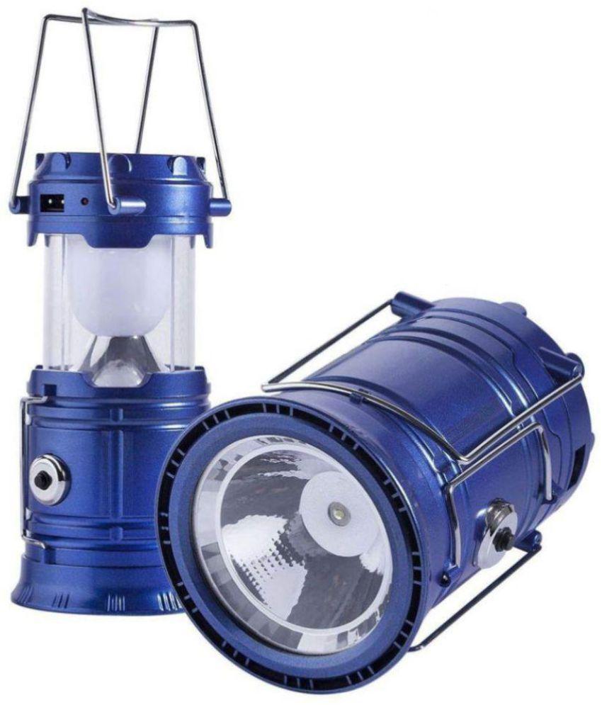 J L Trading Company 5W Blue Solar Lamp - Pack of 1
