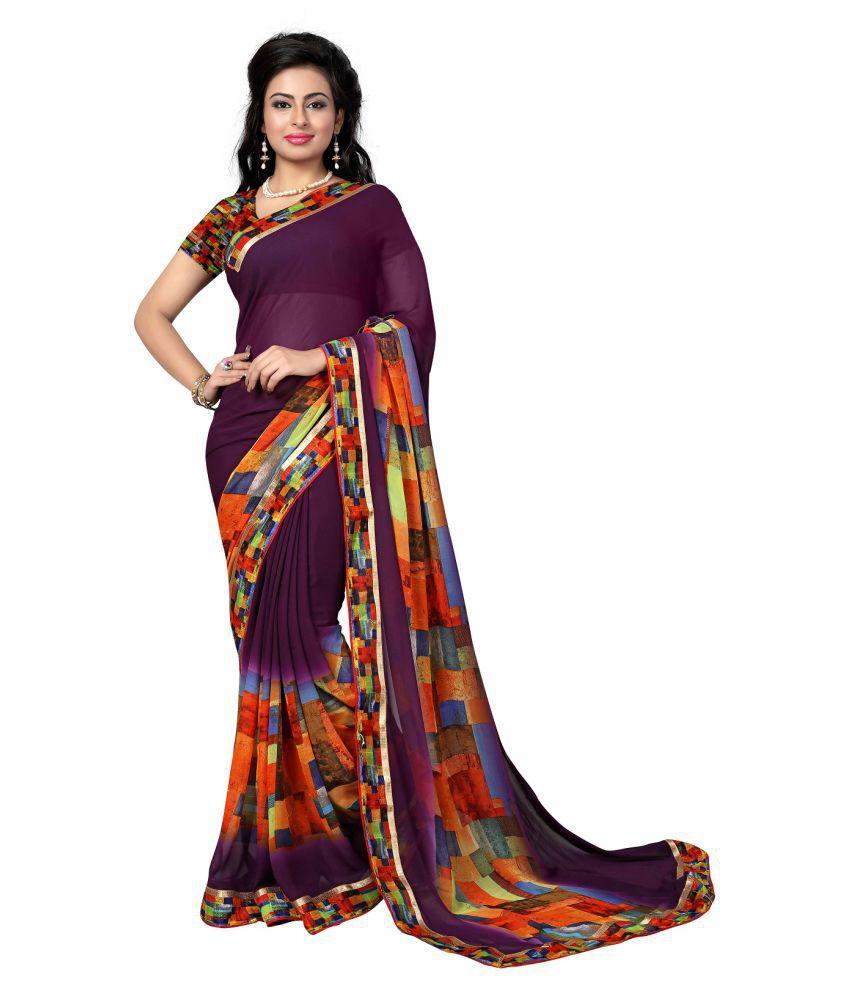 KK Fashion Multicoloured Georgette Saree