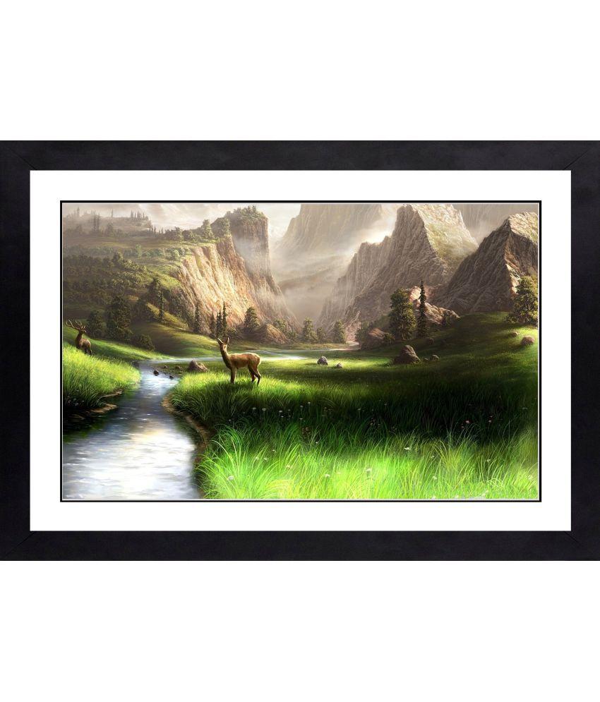 CRAFTSFEST BEAUTIFULL SCENARY MDF Painting With Frame- (30cmX20cmX1.5cm)