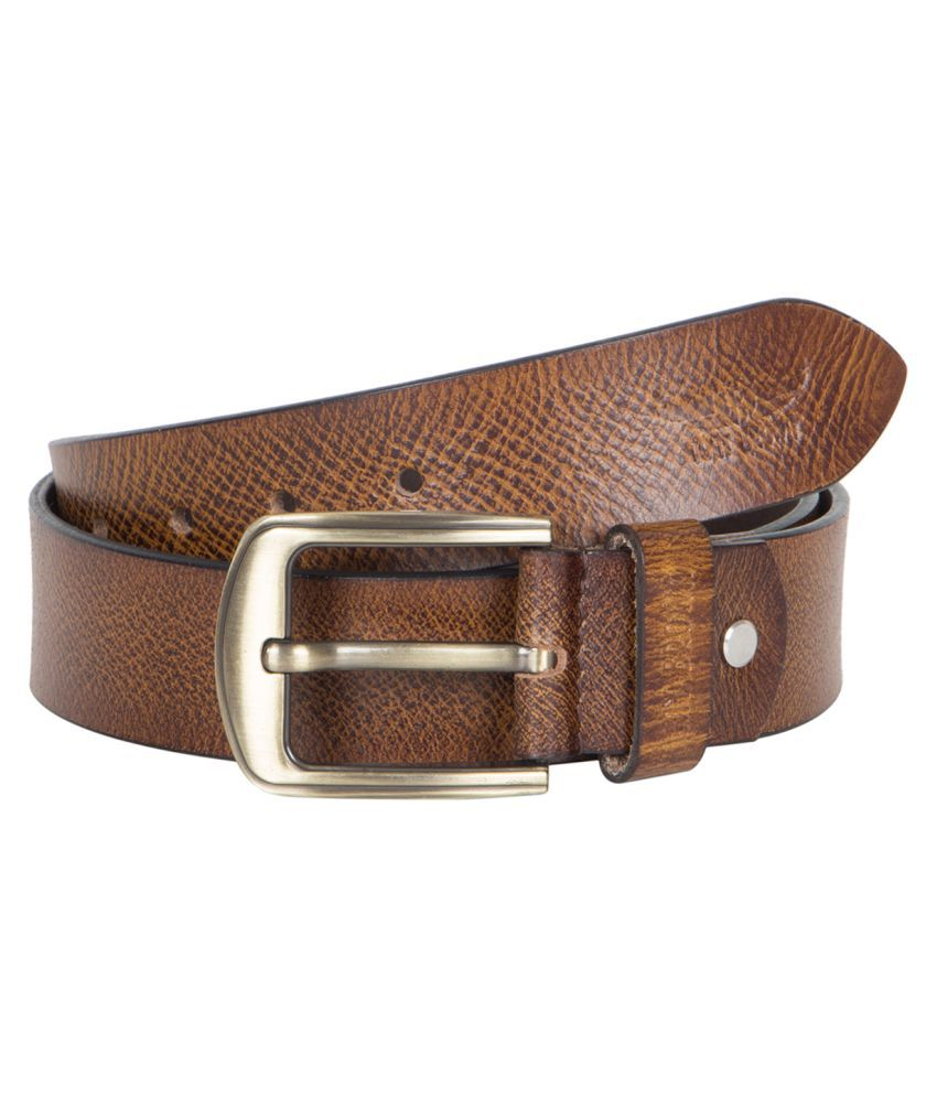 Tony Brown Brown Leather Casual Belts