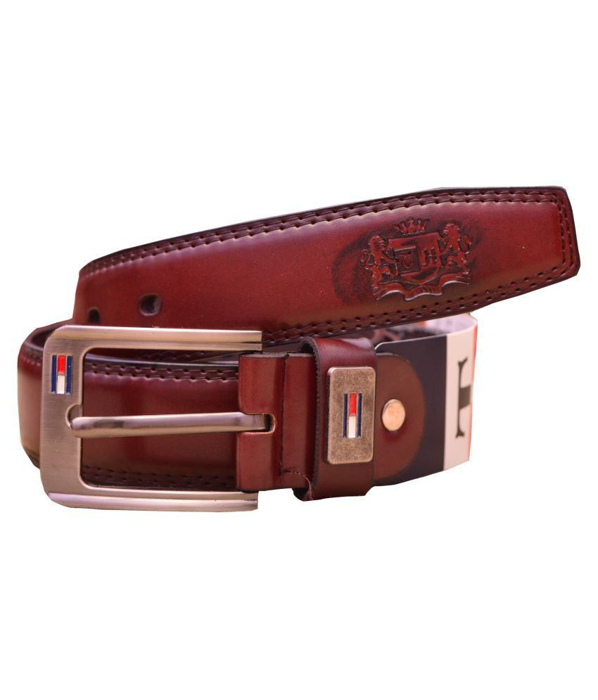 Shubham Replicate Brown Leather Party Belts