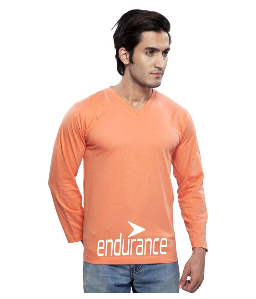 Clifton Orange V-Neck T-Shirt