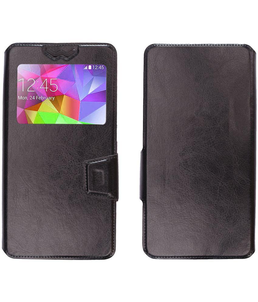 new concept e4767 1ceb8 Micromax Canvas Doodle 3 A102 Flip Cover by Shopme - Black