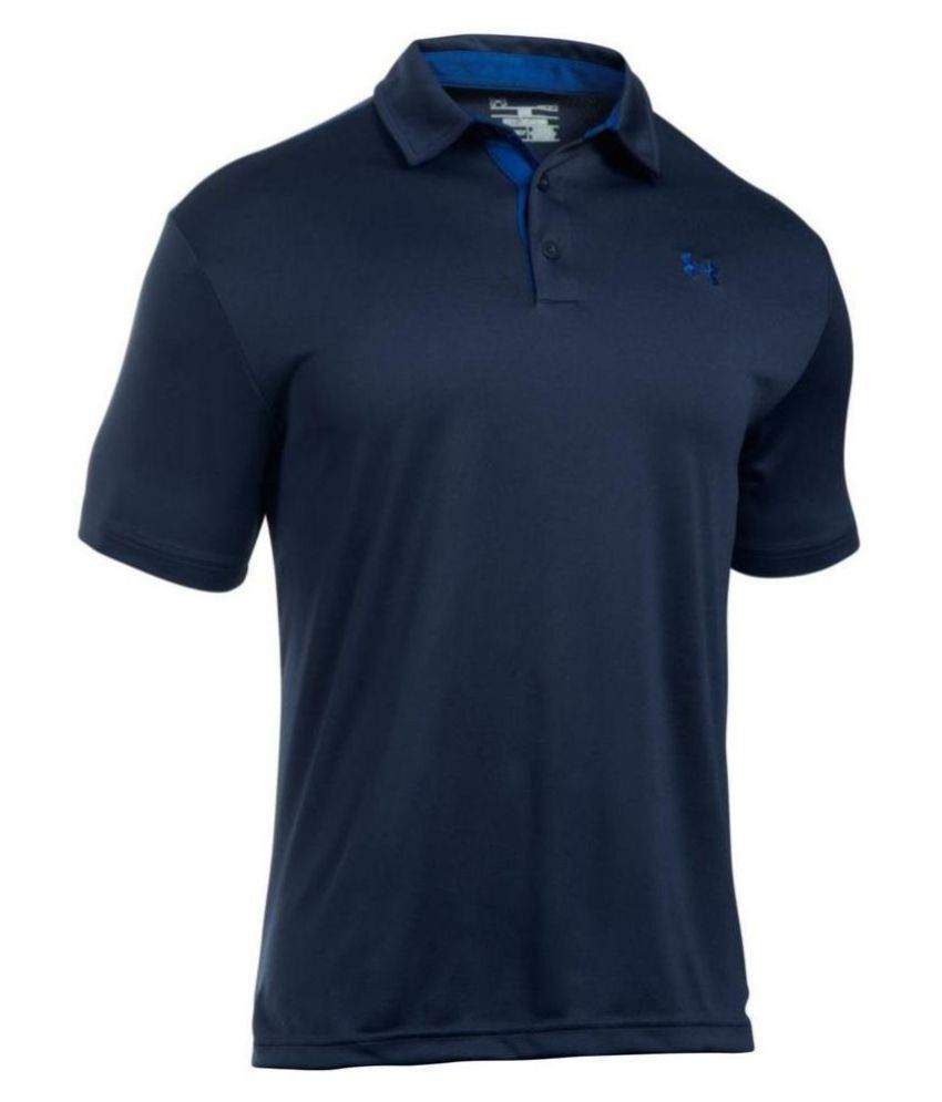 Under Armour Navy Polyester Polo T-shirt