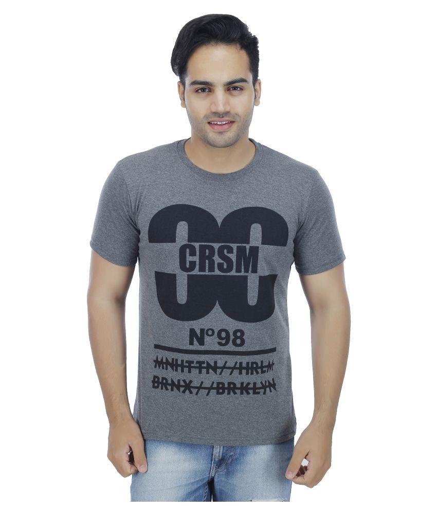 Nagru Grey Round T-Shirt