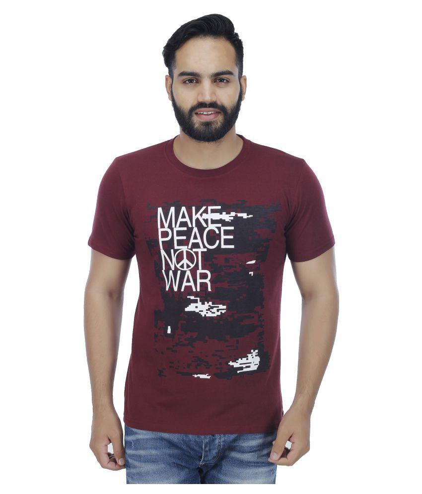 Darwin Maroon Round T-Shirt
