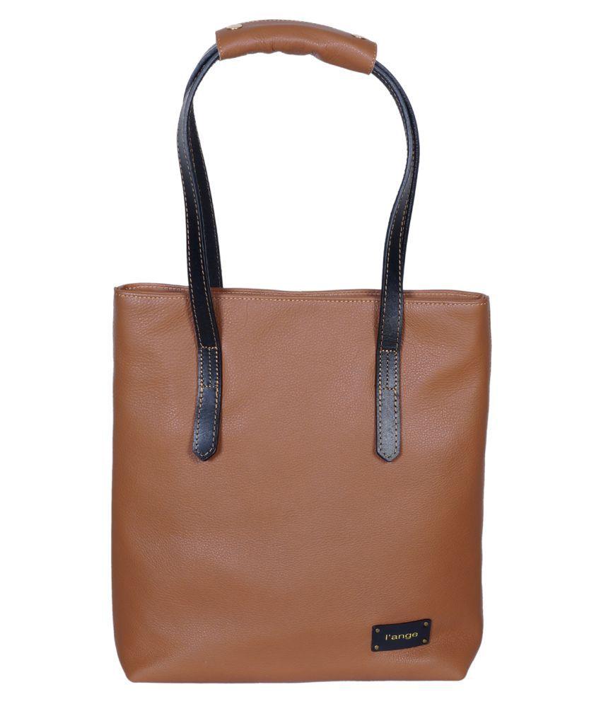 L'ange Brown Pure Leather Shoulder Bag