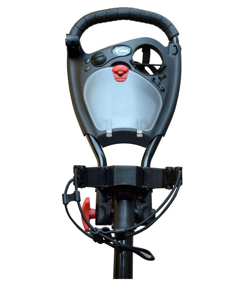 GolfBasic Prime 4-Wheel Golf Push Cart - Black: Buy Online at Best on