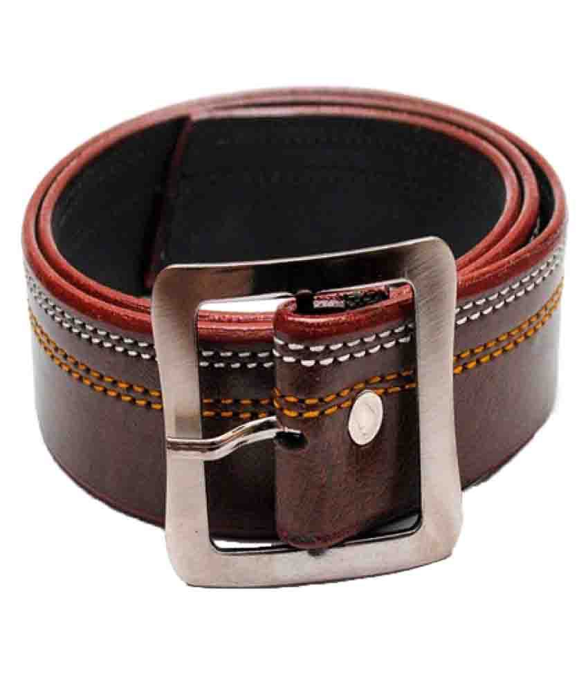 Madley Brown Faux Leather Casual Belts