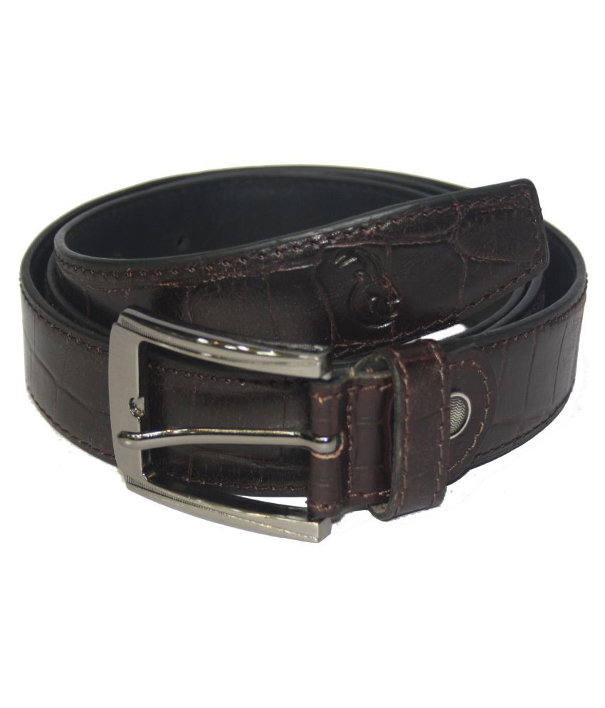 HugMe.Fashion Brown Leather Casual Belts