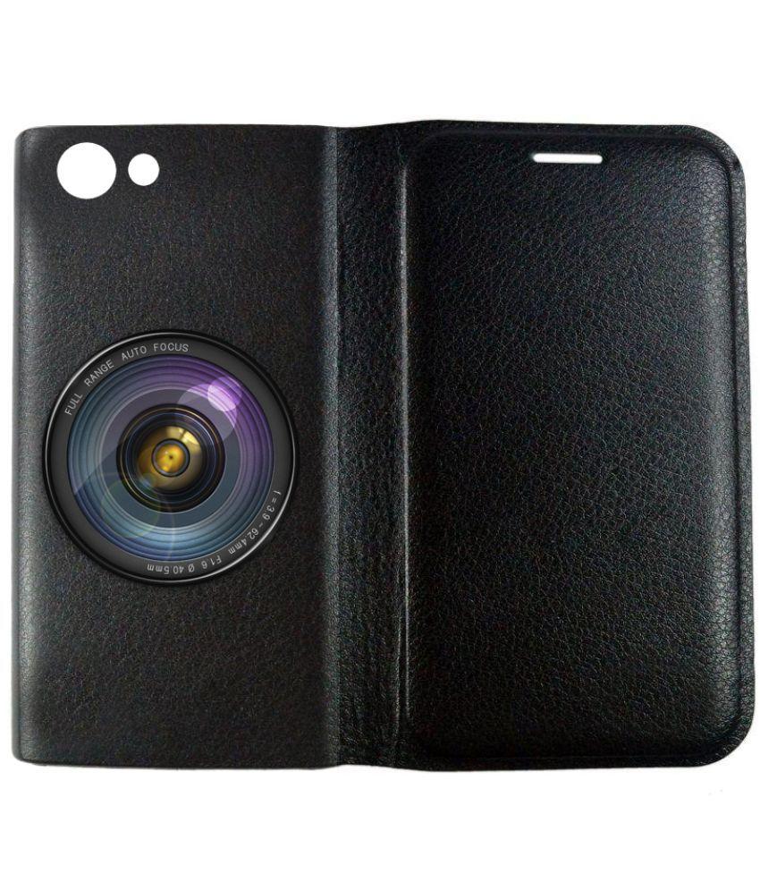 Oppo F1s Flip Cover by BuyFeb - Black