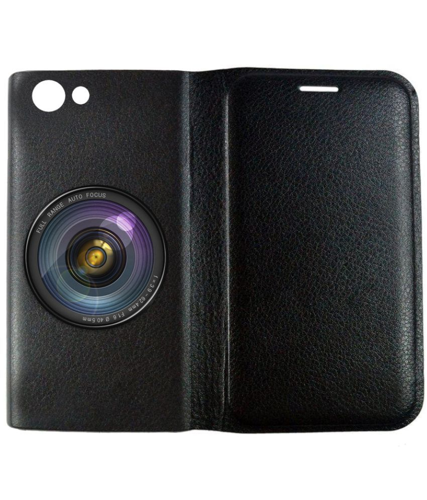 Vivo V5 Plus Flip Cover by BuyFeb - Black
