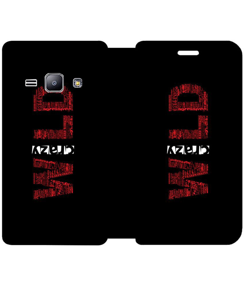 Samsung Galaxy J1 4G Flip Cover by Skintice - Red