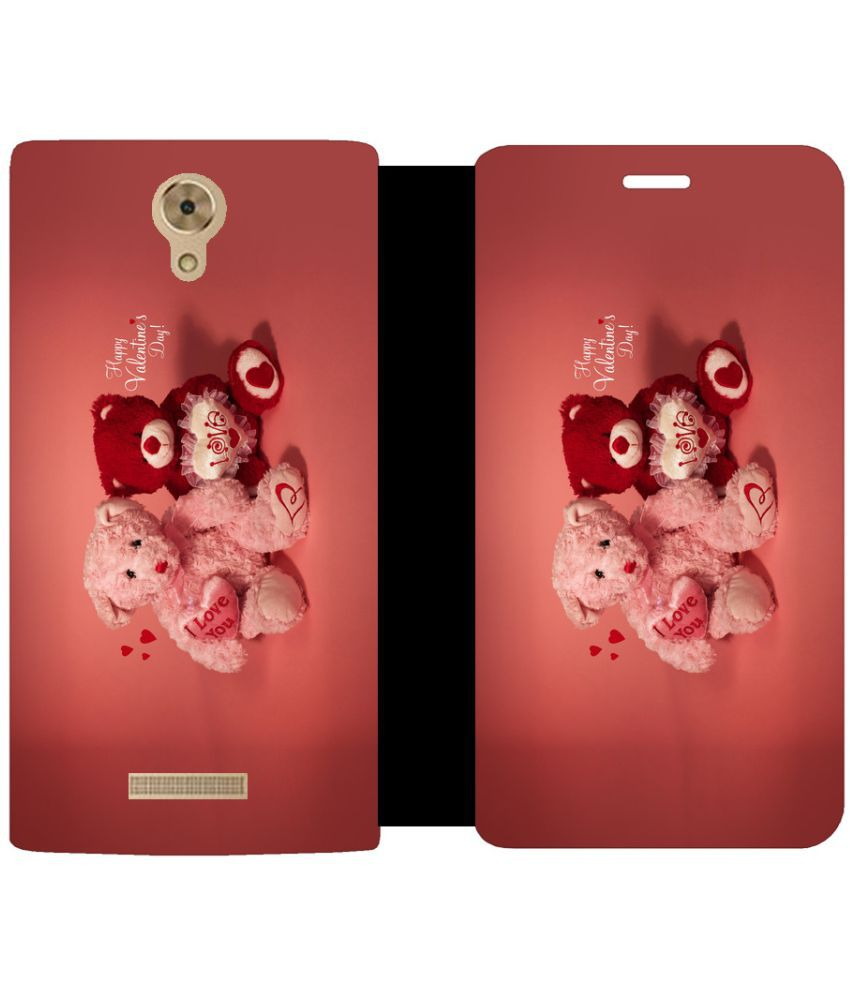 Coolpad Mega 2.5D Flip Cover by Skintice - Red