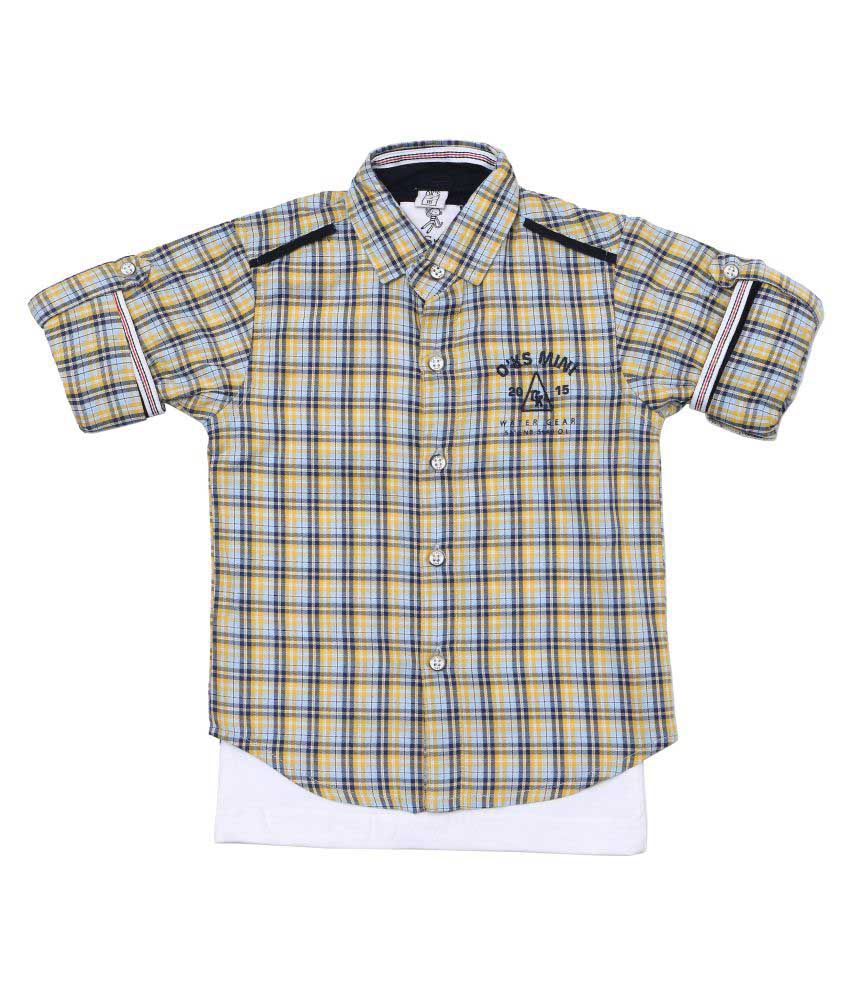 1db73b9b4cbb OKS Mini Cotton Shirt with inner T-Shirt for Mini Baby Boys - Buy OKS Mini Cotton  Shirt with inner T-Shirt for Mini Baby Boys Online at Low Price - Snapdeal