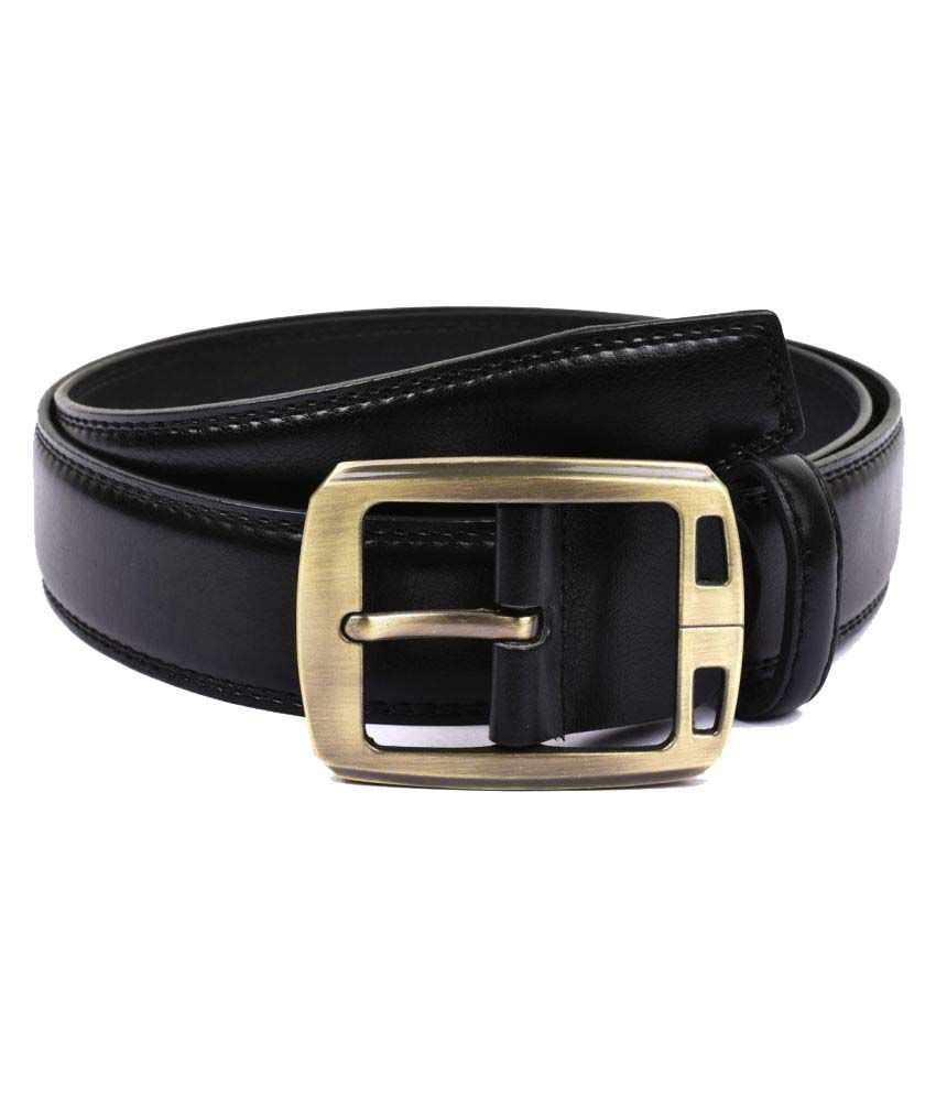 Buckle Up Black Faux Leather Formal Belts
